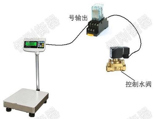 我司电子台秤可配PLC控制程序